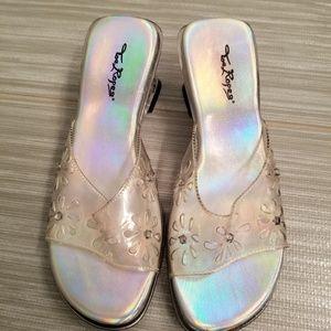 Other - NEW little girls lucite rhinestone wedge heels